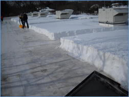 Flat Roof Snow Removal When Heavy Comes Along Eagle Rivet Is Ready With Ers Sanders And Plows To Perform The Work You Should Not Have